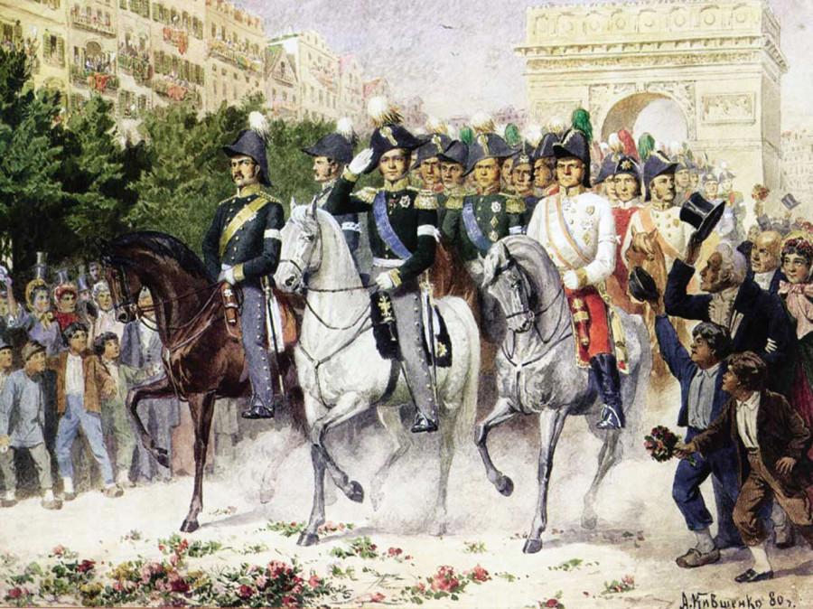 Алексей Кившенко - Вступление русских войск в Париж в 1814 году