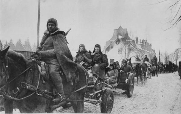 1945 год-Февраль. Таманская дивизия вступает в Прейсиш-Эйлау. Восточная Пруссия