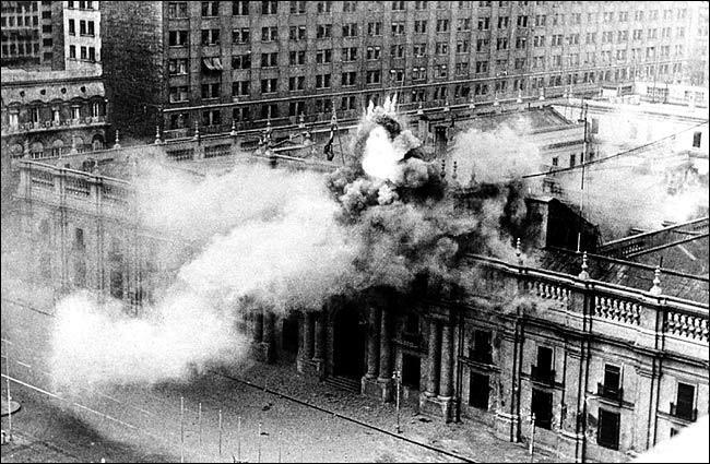 Обстрел резиденции президента Чили