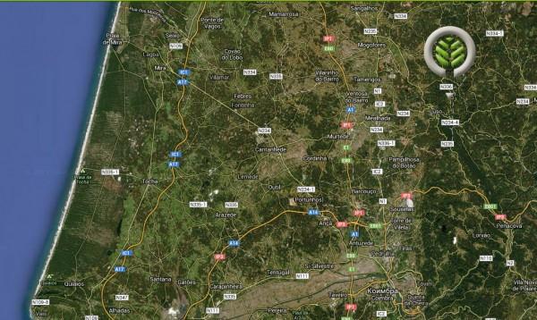 Buçaco - mapa