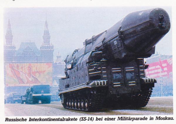 Советская ракета СС-14 на военном параде.