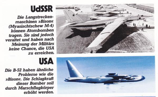 Советский самолет Бизон и американский B-52