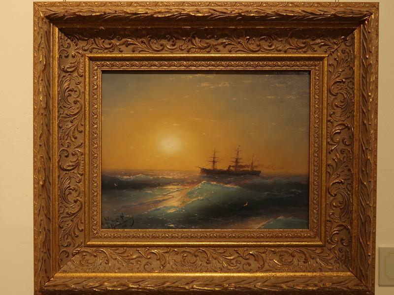 Айвазовский И.К. Закат на море 1886 Картон на холсте, масло