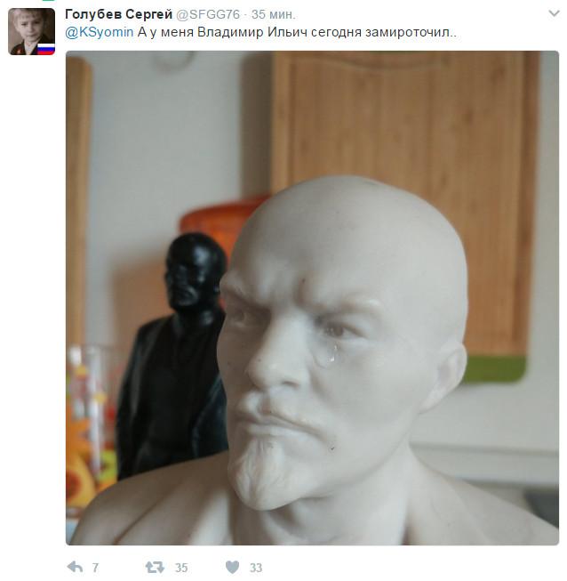 В Крыму замироточил бюст Николая II