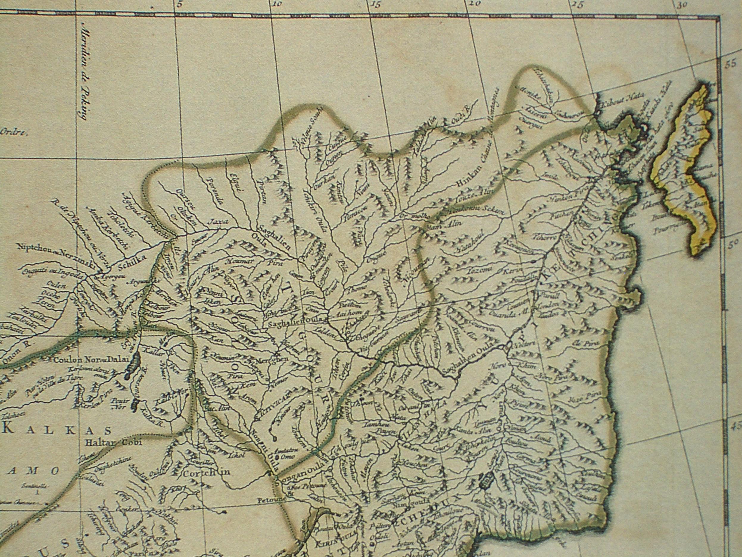 Французская карта Китая 1734