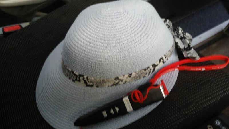 """Вот этот """"кинжальчик"""" на моей шляпе и есть аудиогид"""