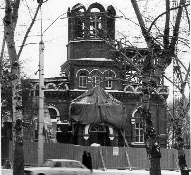 Реставрация Никольской церкви, освящена в 1993г.