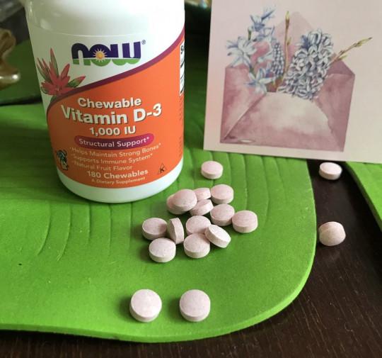 жевательный витамин Д Нау Фудс из Айхерб от Now Foods Chewable