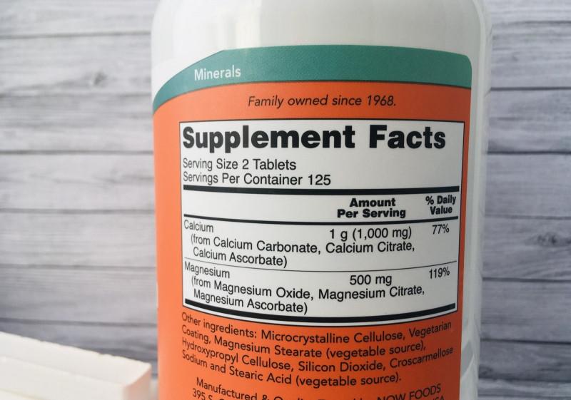 кальций и магний Нау Фудс 250 таблеток из Айхерб от Now Foods