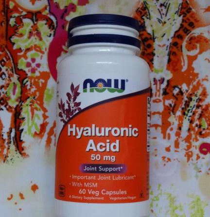 Now Foods, Гиалуроновая кислота, 50 мг, 60 растительных капсул