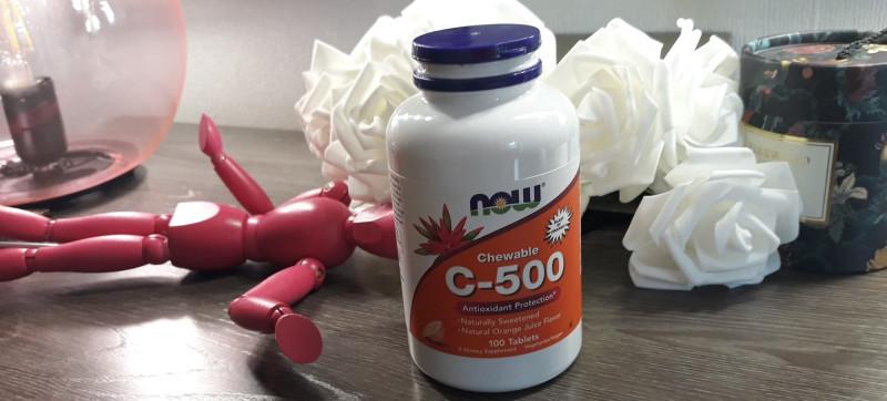 витамин С жевательный C-500 Нау Фудс со вкусом апельсинового сока от Now Foods