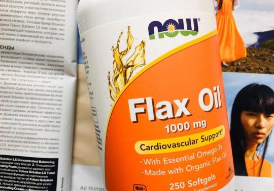 Now Foods, Льняное масло с незаменимыми жирными кислотами омега-3