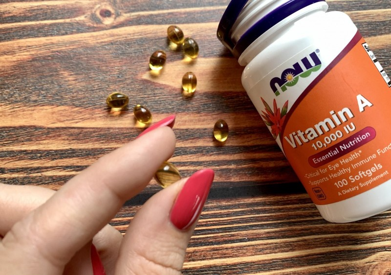 Now Foods, Витамин A, 10 000 МЕ, 100 мягких таблеток