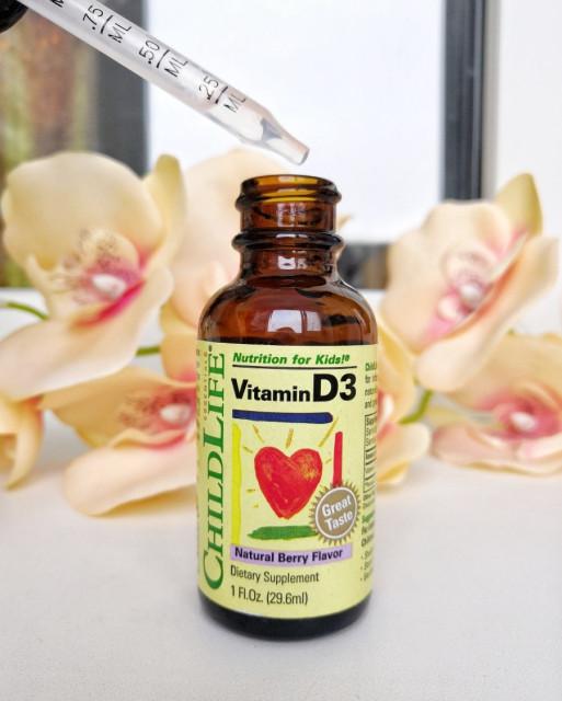 ChildLife, Витамин D3, вкус натуральных ягод