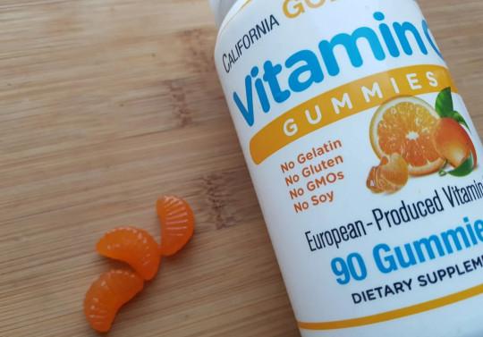 California Gold Nutrition, Жевательные таблетки с витамином C, натуральный апельсиновый вкус