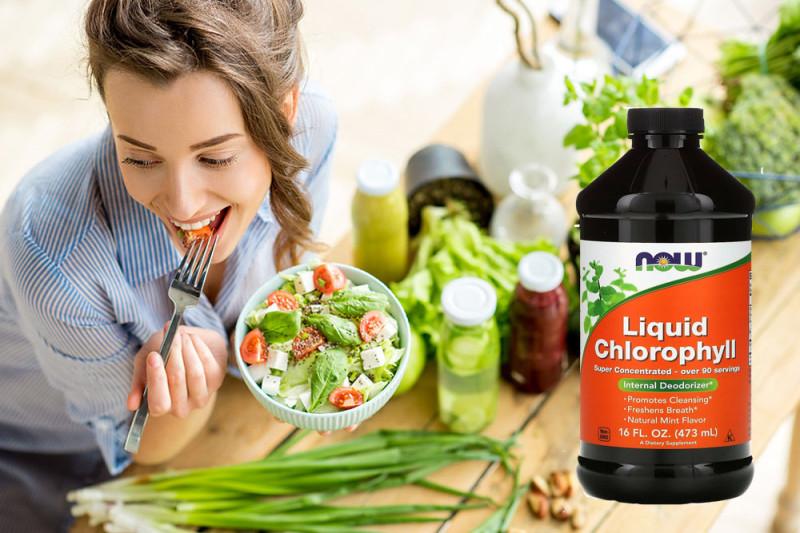 Now Foods, Жидкий хлорофилл, аромат мяты. Купить со скидкой на iHerb айхерб через промокод. Отзывы и обзор