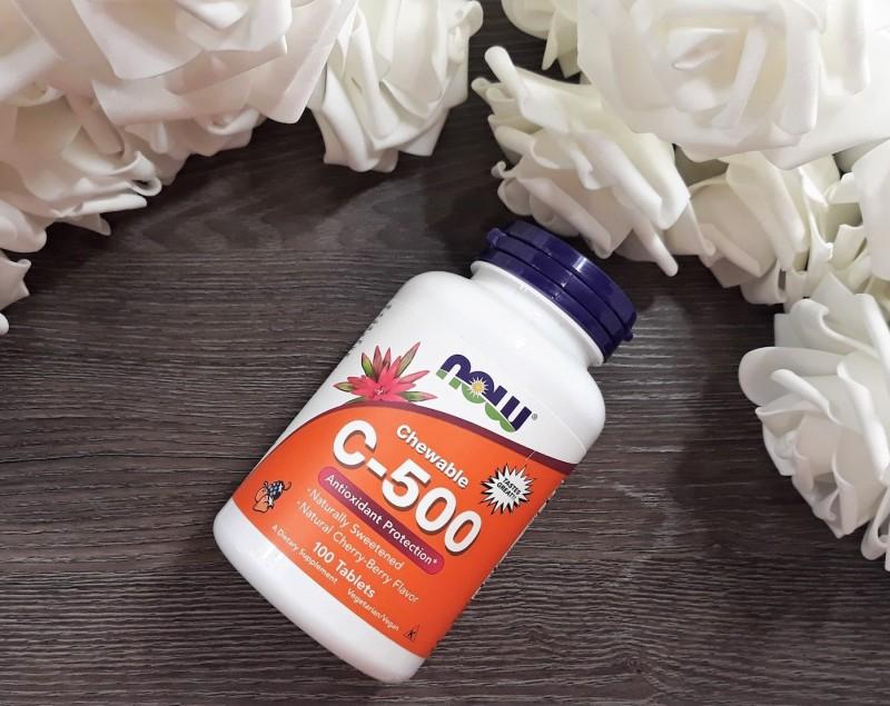 Отзыв витамин С жевательный C-500 Now Foods
