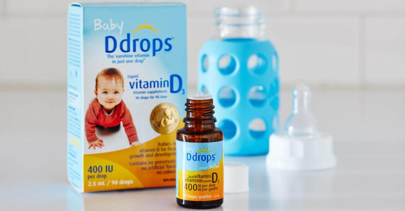 Обзор и отзывы на детский жидкий витамин Д Ddrops Baby Liquid Vitamin D3. Как принимать, где купить.