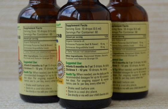 ChildLife, Важные питательные вещества, эхинацея, вкус натурального апельсина