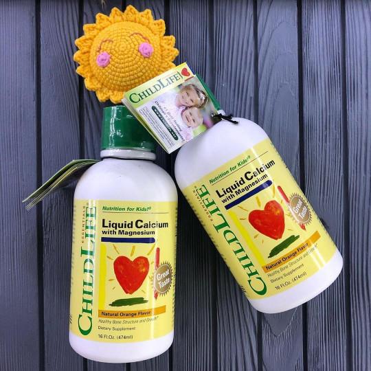 Отзывы ChildLife Жидкий кальций с магнием вкус апельсина. Противопоказания, где купить дешево.