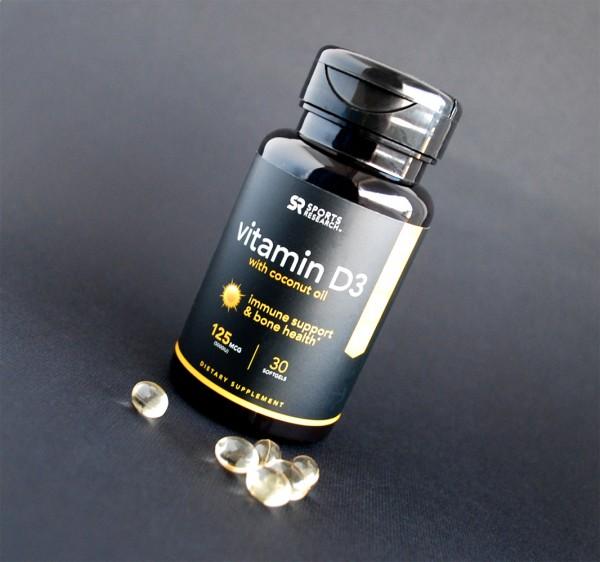 Обзор и отзывы на Sports Research, Витамин D3 с кокосовым маслом. Польза и вред, как принимать.