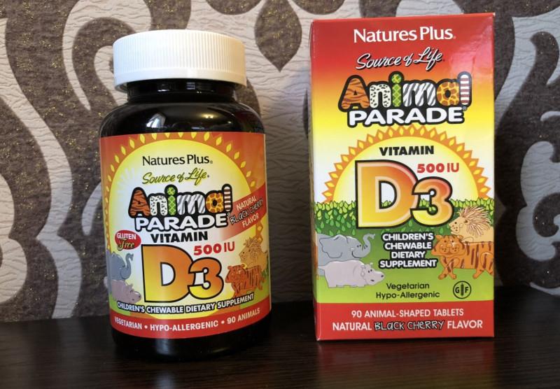Обзор и отзывы на Nature's Plus, Animal Parade, витамин D3. Польза и вред. Как принимать, где купить