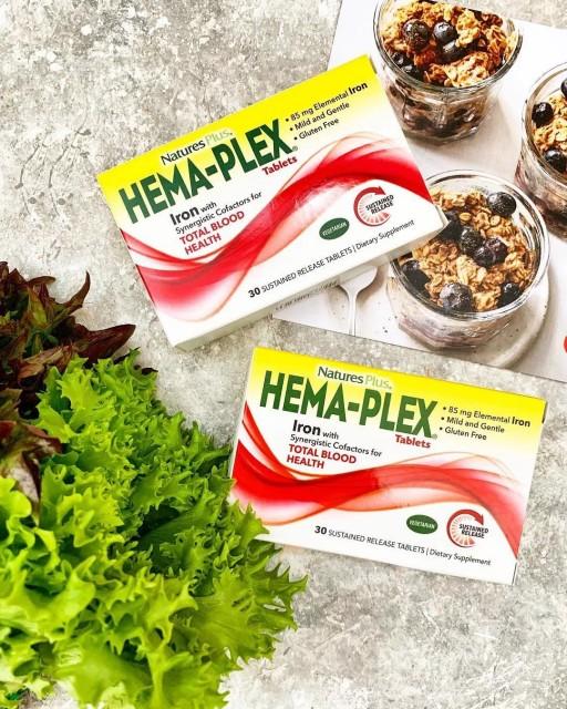 Отзывы Natures Plus Hema-Plex 30 таблеток с длительным высвобождением