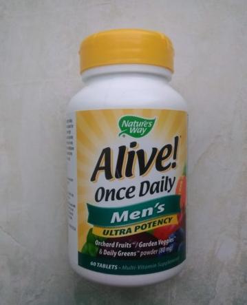 Nature's Way, Alive! Раз в день, мультивитамины для мужчин