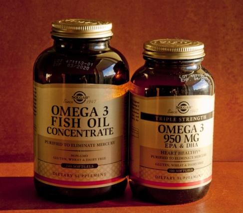 Solgar, Омега-3 рыбий жир, концентрат и тройная сила