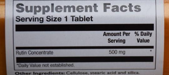 Отзывы Thompson Рутин 500 мг. Натуральный биофлавоноид.