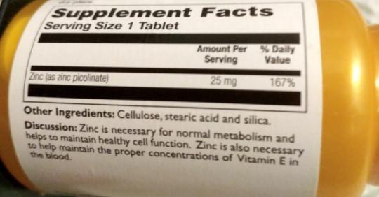 Отзывы Thompson Пиколинат цинка 25 мг
