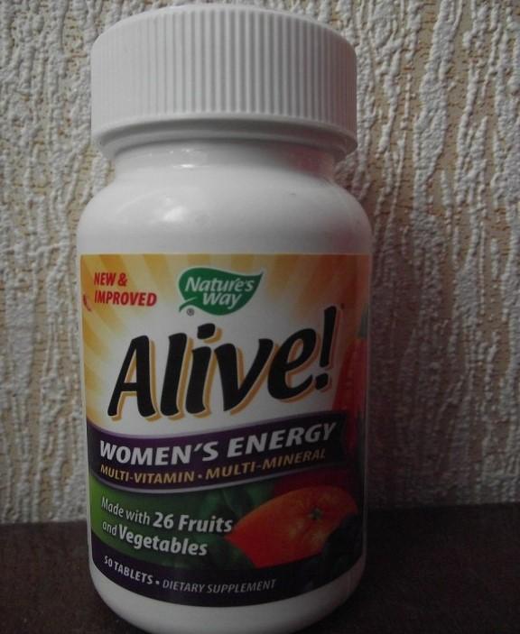 Nature's Way, Alive!, комплекс мультивитаминов и мультиминералов для женщин