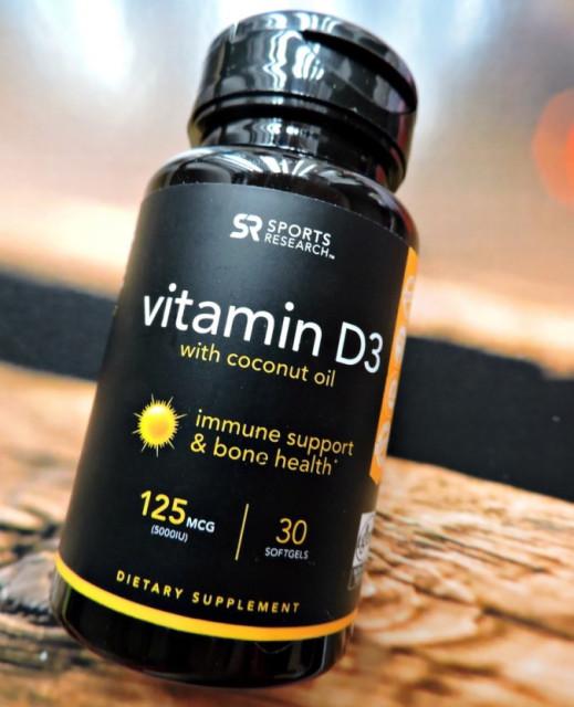 Sports Research, Витамин D3 с кокосовым маслом