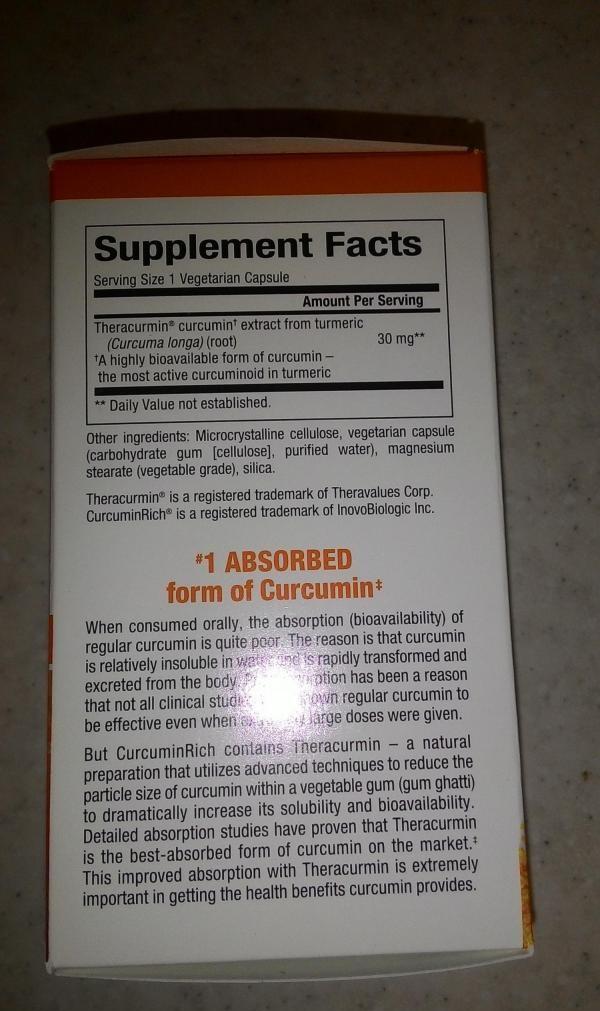 Отзывы Natural Factors CurcuminRich, теракурмин