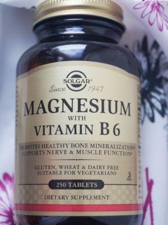 Solgar, Магний, с витамином В6