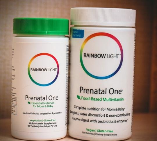 Отзывы пренатальные натуральные витамины Rainbow Light Prenatal One сырые витамины. Новый дизайн и старый дизайн
