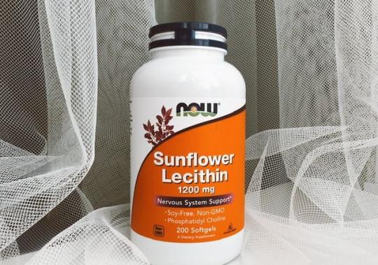 БАД Now Foods подсолнечный лецитин 1200 мг в капсулах. Sunflowe lecithin