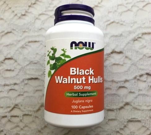Скорлупа черного ореха Now Foods