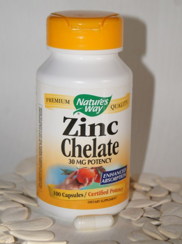 Nature's Way, Хелат цинка, 30 мг, 100 капсул