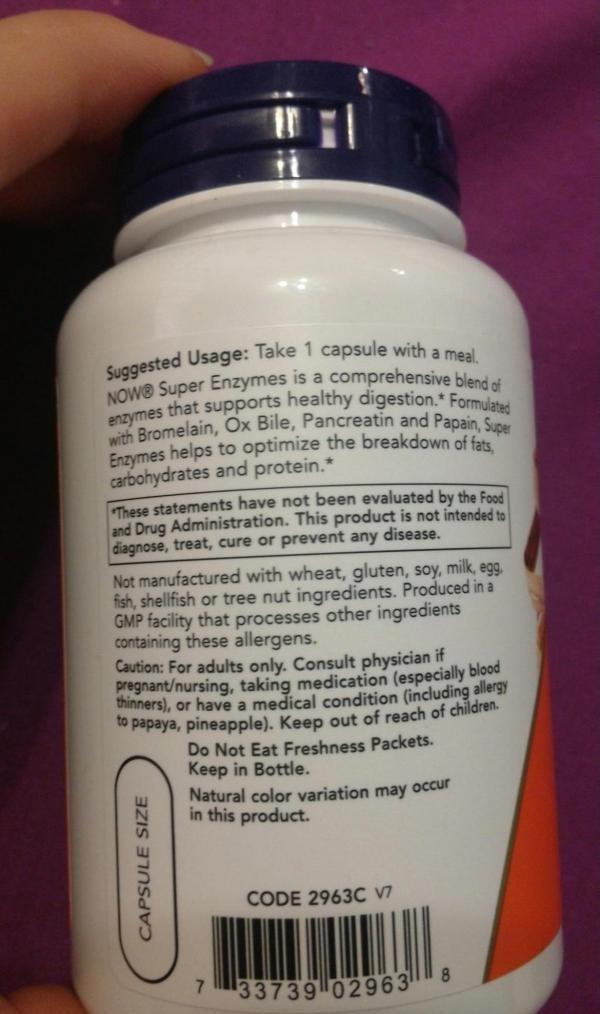 Энзимы, пищеварительные ферменты Now Foods. Суперэнзимы
