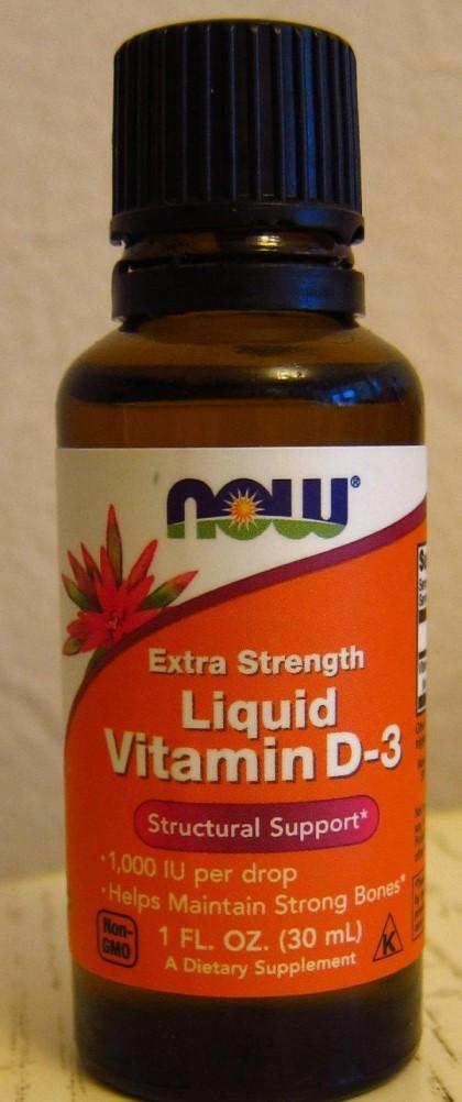 Жидкий витамин D3 Now Foods