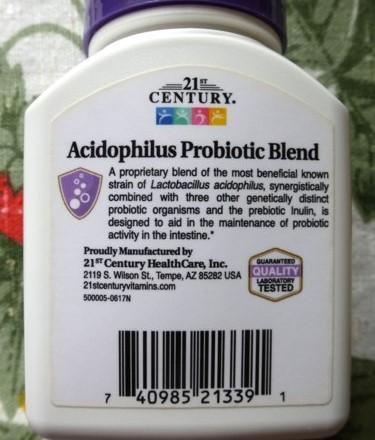 Обзор и отзывы на 21st Century Смесь пробиотиков Acidophilus. Как принимать, где купить.