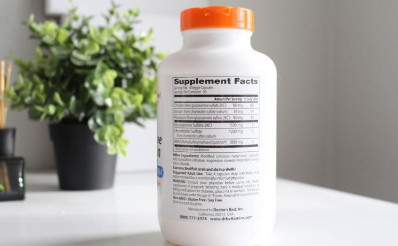 Глюкозамин хондроитин МСМ с OptiMSM от Doctor's Best