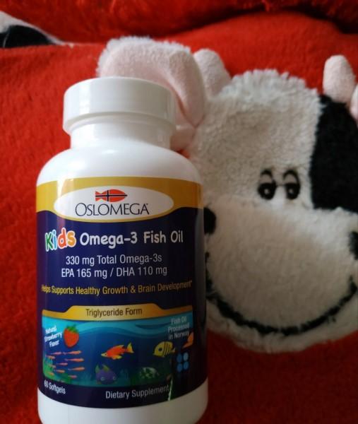 Oslomega Омега-3 из рыбьего жира для детей, 165 мг ЭПК, 110 мг ДГК, натуральный клубничный вкус