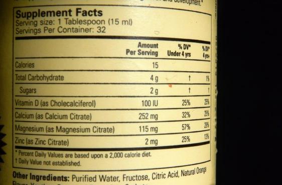 ChildLife, Жидкий кальций с магнием, вкус натурального апельсина