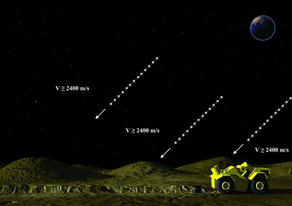 Moontrap At artificial regolith hills