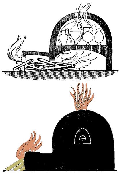 Двухкамерные гончарные печи