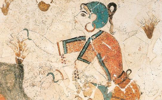 Фреска Собирательницы крокуса
