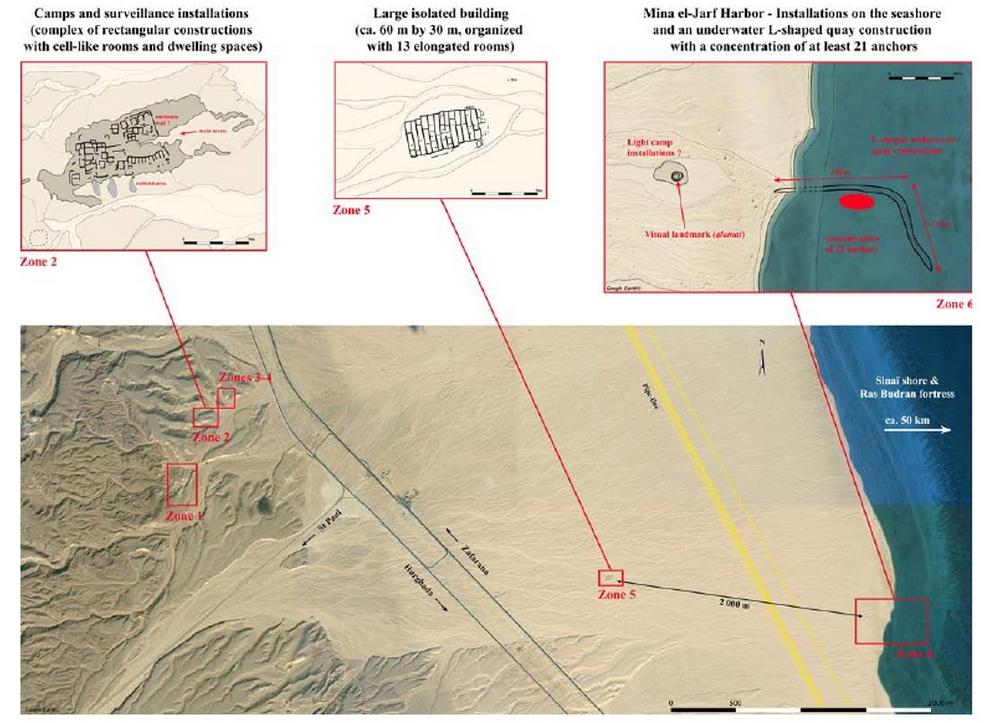 Структура порта в Вади- эль-Джарф