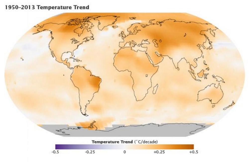 Тенденции температурыт 1950-2013